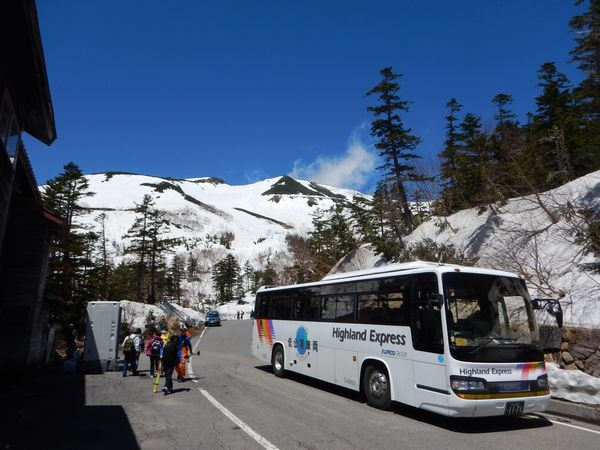 乗鞍岳春山バス